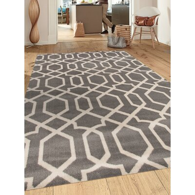 Ryann Gray/Ivory Area Rug Rug Size: Rectangle 53 x 73