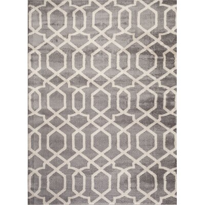 Ryann Gray/Ivory Area Rug Rug Size: 53 x 73
