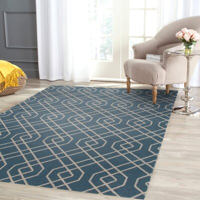 Penny Blue Area Rug Rug Size: Rectangle 53 x 73