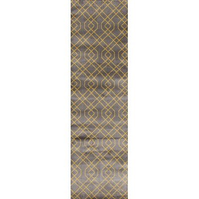 Penny Gray/Yellow Area Rug Rug Size: Runner 2 x 72