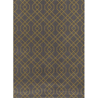 Penny Gray/Yellow Area Rug Rug Size: Rectangle 2 x 3