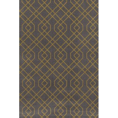 Penny Gray/Yellow Area Rug Rug Size: Rectangle 53 x 73