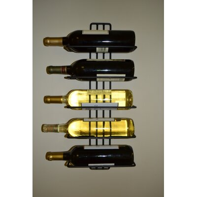 Carlotta 5 Bottle Wall Mounted Wine Rack
