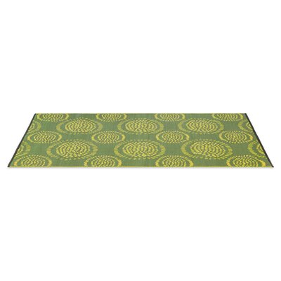 Calandre Reversible Hand-Woven Green Indoor/Outdoor Area Rug Rug Size: 5 x 8