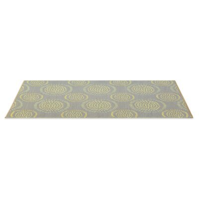 Calandre Reversible Hand-Woven Gray/Yellow Indoor/Outdoor Area Rug Rug Size: 6 x 9