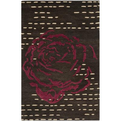 Demetra Charcoal Area Rug Rug Size: Rectangle 4 x 6