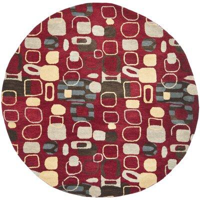 Demetra Red Rug Rug Size: Round 7
