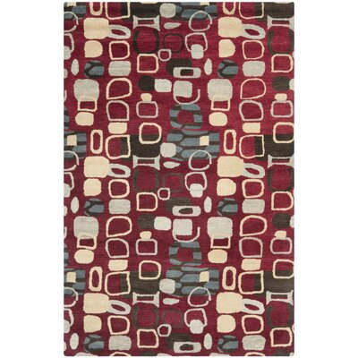 Demetra Red Rug Rug Size: Rectangle 4 x 6