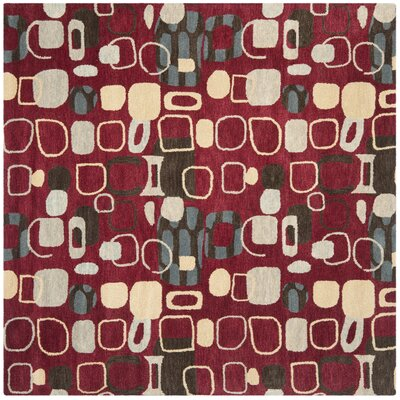 Tommy Red Rug Rug Size: Square 7
