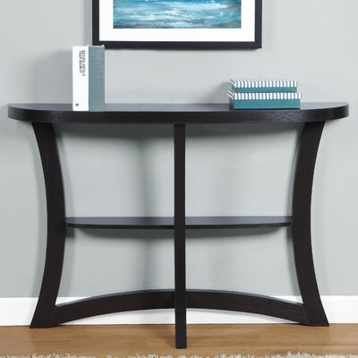 Rene Hallway Console Table Color: Cappuccino