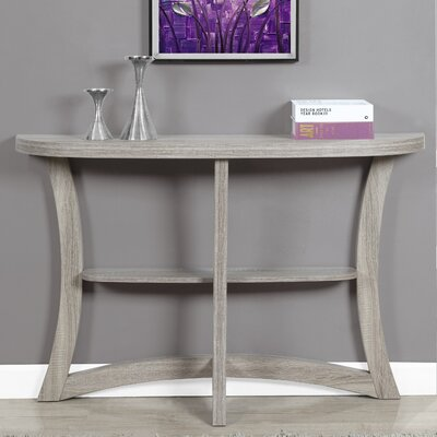 Rene Hallway Console Table Color: Dark Taupe