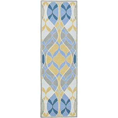 Demetra Blue Multi Rug Rug Size: Runner 26 x 12