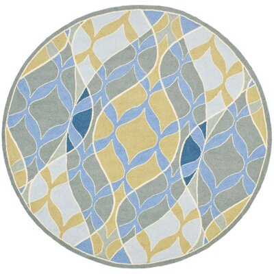 Tommy Blue Multi Rug Rug Size: Round 56