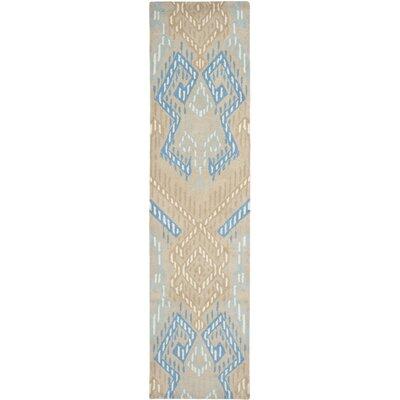 Secaucus Beige/Blue Rug Rug Size: Runner 23 x 9