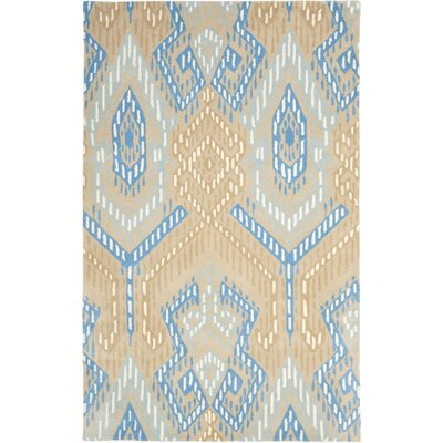 Secaucus Beige/Blue Rug Rug Size: Rectangle 4 x 6