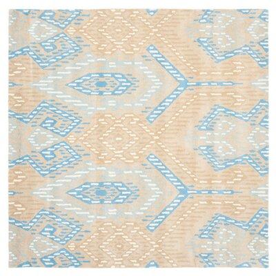 Secaucus Beige/Blue Rug Rug Size: Square 7