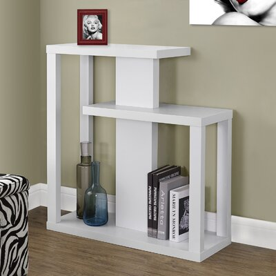 Rene Three Tiered Console Table Finish: White