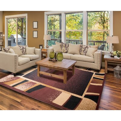 Simona Brown Area Rug Rug Size: 52 x 74