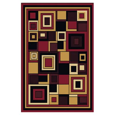 Simona Geometric Area Rug Rug Size: Rectangle 3'7