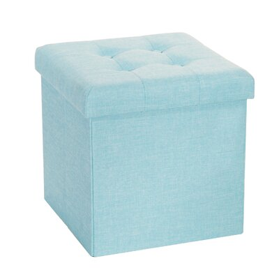 Zosia Storage Ottoman Upholstery Color: Baby Blue