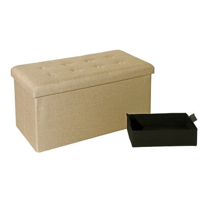 Zosia Tufted Foldable Storage Cube Ottoman Upholstery Color: Oatmeal Beige