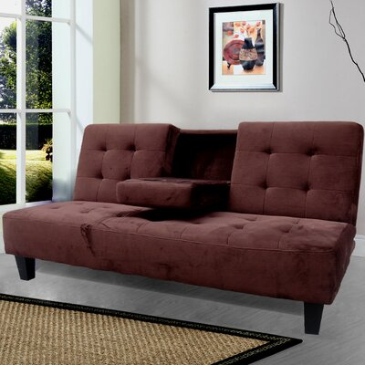 Paterson Twin Sleeper Sofa Upholstery: Brown