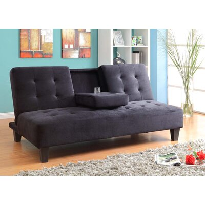 Paterson Twin Sleeper Sofa Upholstery: Black