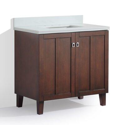 Larabee 36 Single Sink Bathroom Vanity Set Top Finish: Snow White