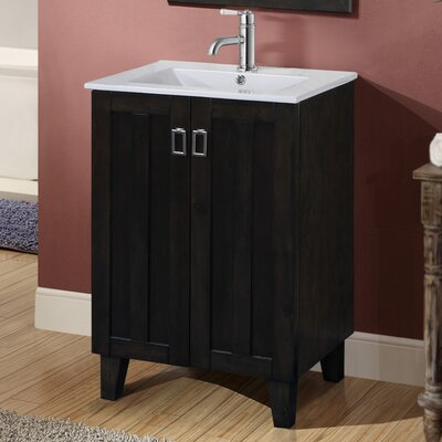 Larabee 24 Single Sink Bathroom Vanity Set Base Finish: Dark Brown