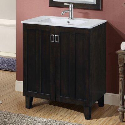 Larabee 30 Single Sink Bathroom Vanity Set Base Finish: Dark Brown