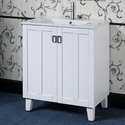 Larabee 30 Single Sink Bathroom Vanity Set Base Finish: White