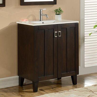 Lehigh 30 Single Sink Bathroom Vanity Set Base Finish: Brown