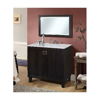Lehigh 36 Single Sink Bathroom Vanity Set Base Finish: Dark Brown