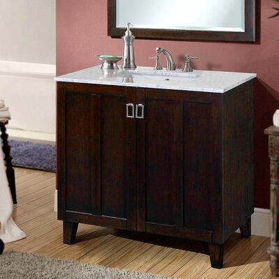 Lehigh 36 Single Sink Bathroom Vanity Set Base Finish: Brown