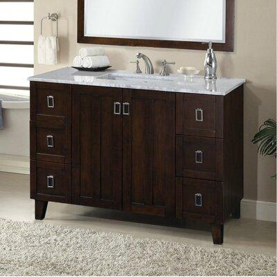 Lehigh 48 Single Sink Bathroom Vanity Set Base Finish: Brown
