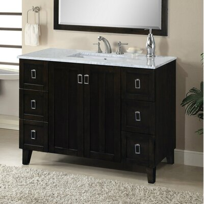 Lehigh 48 Single Sink Bathroom Vanity Set Base Finish: Dark Brown