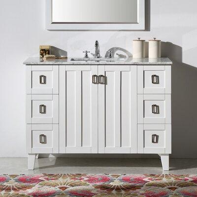 Lehigh 48 Single Sink Bathroom Vanity Set Base Finish: White