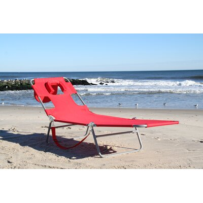 Gifford Folding Chaise Lounge Color: Red