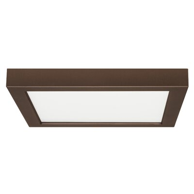 Emmaus 1-Light LED Flush Mount Finish: Bronze, Size: Square 1 H x 9 W x 9 D