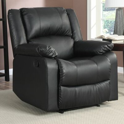 Clyde Recliner Upholstery: Black