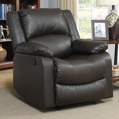 Clyde Manual Recliner Upholstery: Java