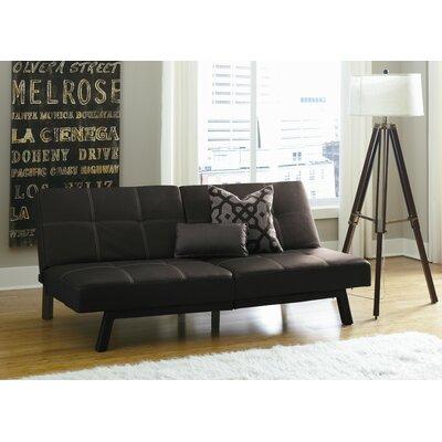 Cooper Splitback Convertible Sofa Upholstery: Black