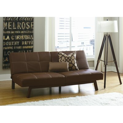 Cooper Splitback Convertible Sofa Upholstery: Brown
