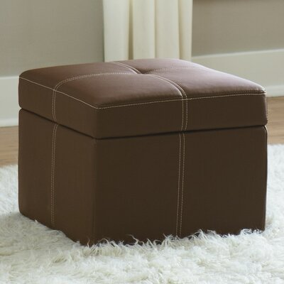 Cooper Storage Ottoman Color: Brown