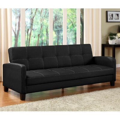 Cooper Convertible Sofa Upholstery: Black