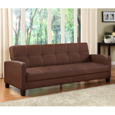 Cooper Convertible Sofa Upholstery: Brown