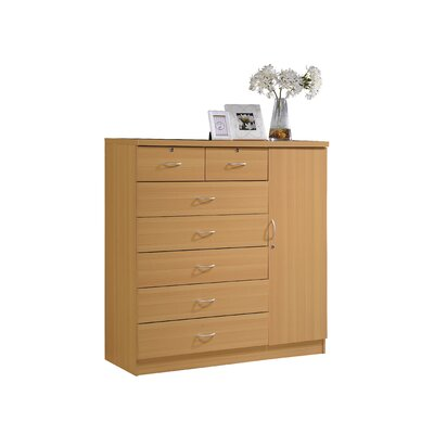 Roselyn 7 Drawer Dresser Color: Beech