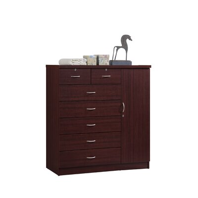 Roselyn 7 Drawer Dresser Color: Mahogany