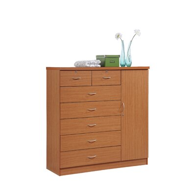 Roselyn 7 Drawer Dresser Color: Cherry