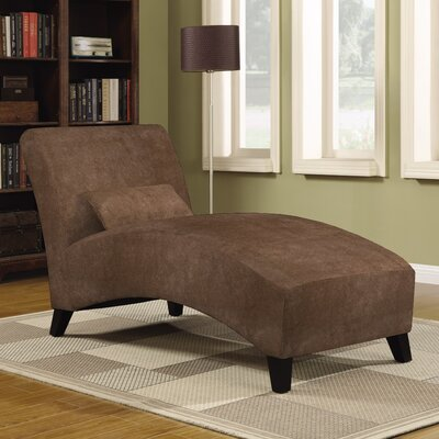 Dante Chaise Lounge Upholstery: Dark Brown